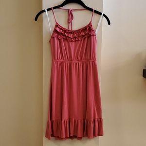 Papaya summer mini dress